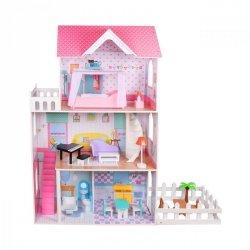 Drewniany domek dla lalek z ogrodem XXL