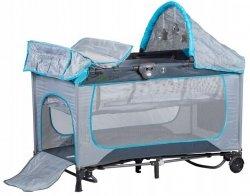 Łóżeczko turystyczne bujane z kołyską - Premium 625A