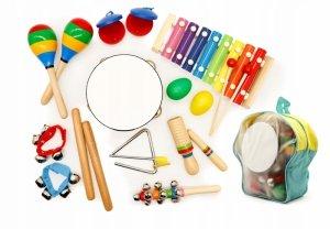 Zestaw muzyczny 10 instrumentów + plecak ECOTOYS