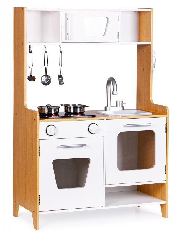 Drewniana kuchnia dla dzieci ze światłem i dźwiękiem ECOTOYS