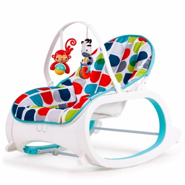Fotelik bujaczek 2w1 wibracje + dwie zabawki ECOTOYS