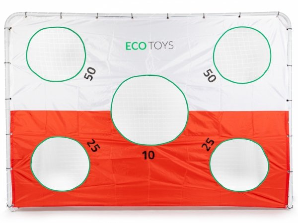 Bramka piłkarska 240 x 170cm z matą ECOTOYS