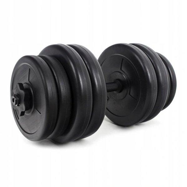 Hantelki hantle 30 KG zestaw dwóch hantli po 15kg fitness