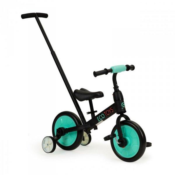 Rower rowerek biegowy z pedałami - treningowy kółka boczne 3w1 Ecotoys