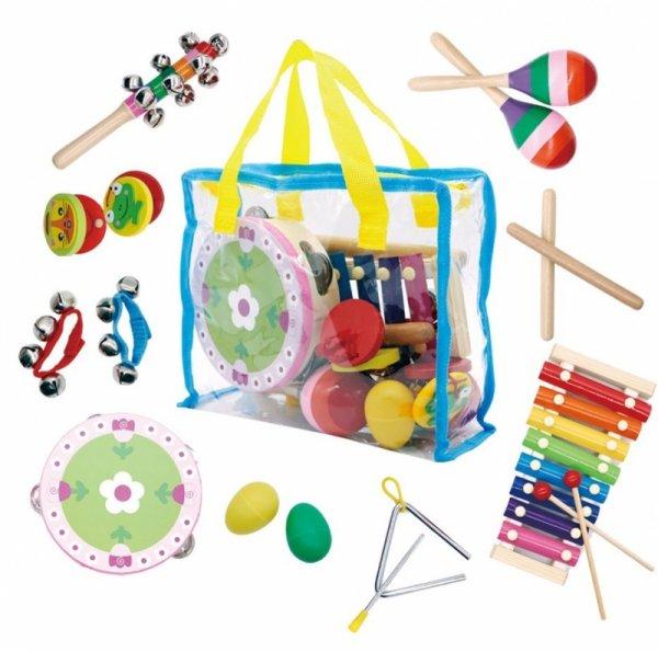 Zestaw muzyczny 14 instrumentów + torba Ecotoys
