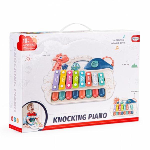 Organki cymbałki edukacyjne pianinko muzyczne led