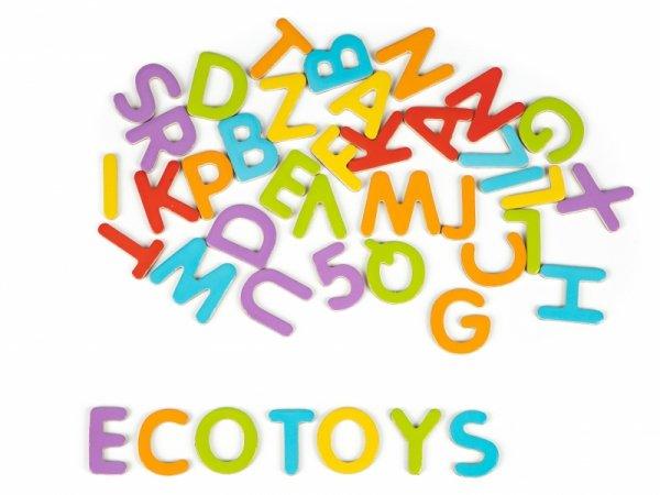 Litery cyfry magnetyczne zestaw magnesów ECOTOYS