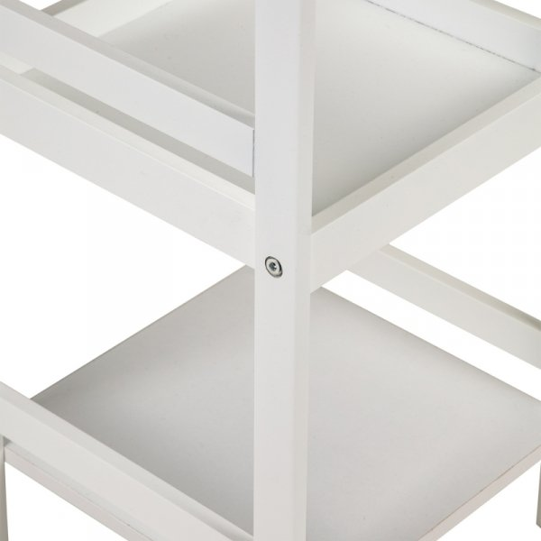 Regał szafka nocna stolik nocny 3 półki ModernHome