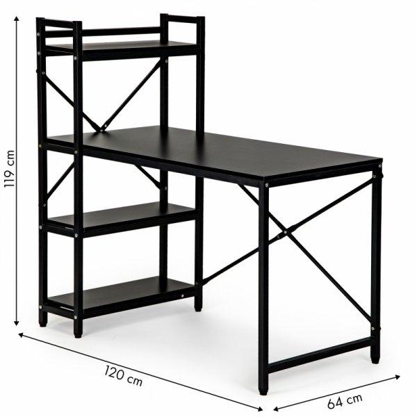 Biurko komputerowe biurowe stół +regał półki loft