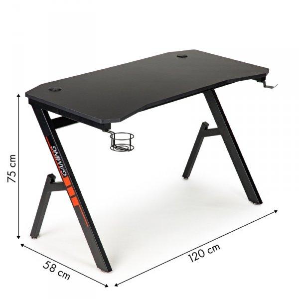 Biurko gamingowe komputerowe stół gracza +uchwyty ModernHome