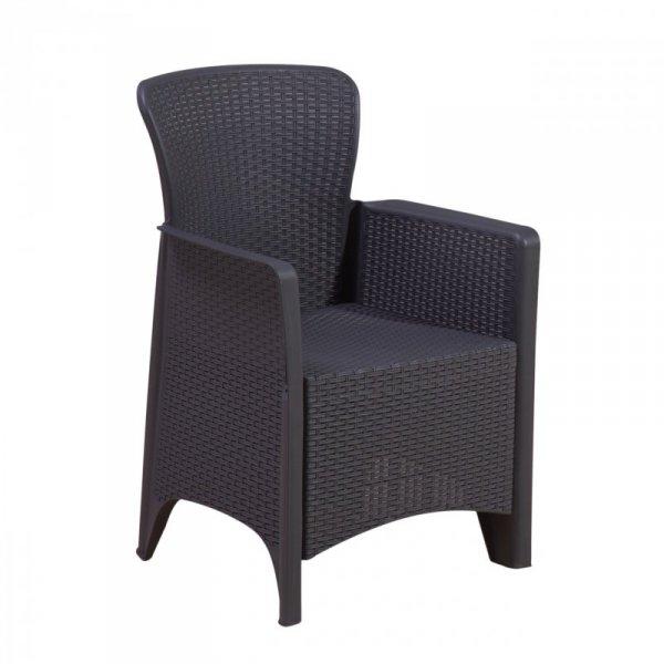 Meble ogrodowe zestaw kawowy stół krzesła 2x fotel