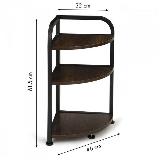 Regał stojak narożny szafka 3 półki LOFT drewniana narożnikowa ModernHome