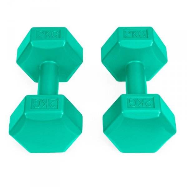 Hantle fitness 4kg zestaw hantelki ciężarki 2x 2kg