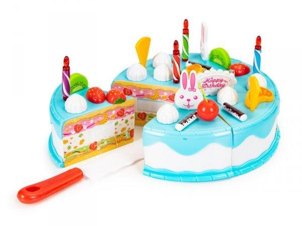 Tort do krojenia zestaw urodzinowy przyjęcie 76 el