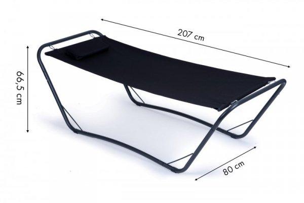 Leżanka ze stelażem hamak fotel leżak ogrodowy