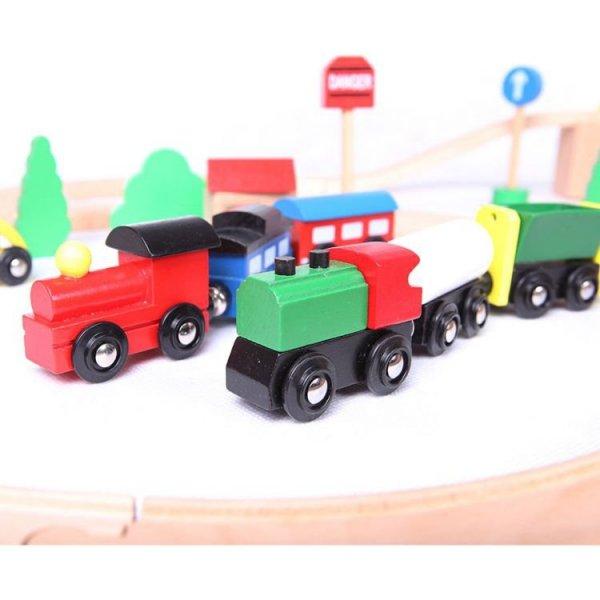 Drewniana kolejka pociąg na baterie 49el Ecotoys