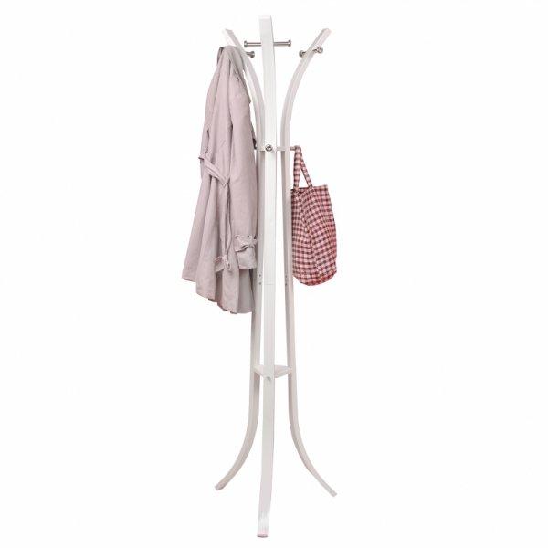 Wieszak na ubrania odzież stojak biały ModernHome