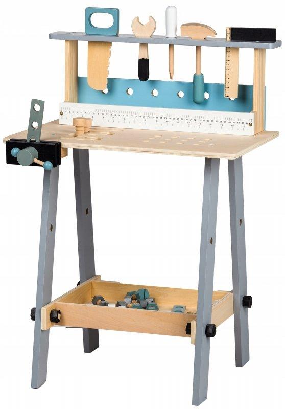 Drewniany warsztat narzędzia 32el zabawki Ecotoys
