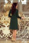 Sukienka trapezowa z wiązaniem pod szyją Ola - Zieleń Butelkowa