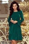 Sukienka z falbankami Pari - Zieleń Butelkowa - numoco 226-1