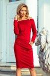 Sukienka z odkrytymi ramionami Raya - Czerwona - numoco 225-3