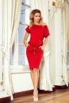 Sukienka sportowa z Krótkim rękawkiem - Czerwona - numoco 139-4