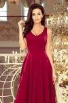 Długa suknia z dekoltem Cindy - Bordowa - numoco 246-1