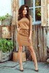Sukienka sportowa - Karmelowa