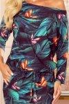 Sukienka sportowa z kieszonkami - kolorowe MOTYLE - 5