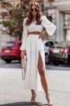 Komplet Tiffi - top z długą spódnicą - cream_3