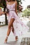 Zwiewna szyfonowa sukienka z falbankami - AMIS_3