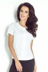 Biała bluzka z plisą - Ivon