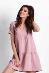Trapezowa sukienka Lola - Róż - Ivon