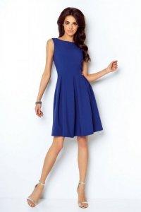 Rozkloszowana sukienka Tailor - Chabrowy - StreetStyle 293