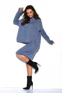 Komplet sweter półgolf i spódnica - StreetStyle  LS260