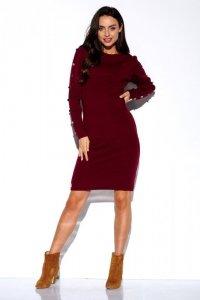 Sukienka swetrowa z guzikami na rękawach - StreetStyle  LS270
