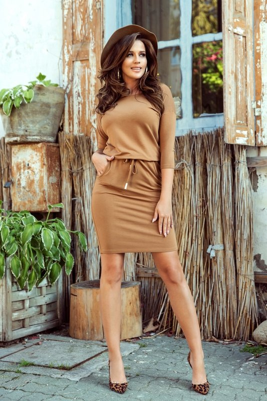 Sukienka sportowa - Karmelowa - numoco 13-108
