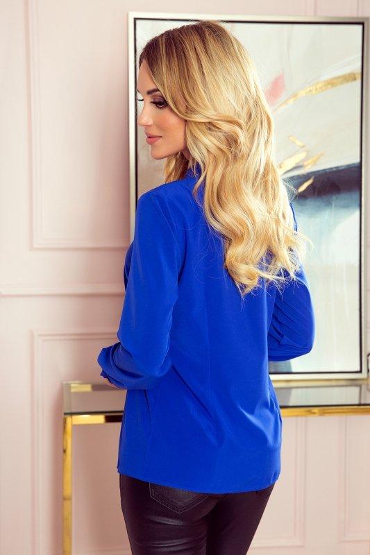 Bluzka z wiązaniem z przodu - Niebieska - numoco 140-11
