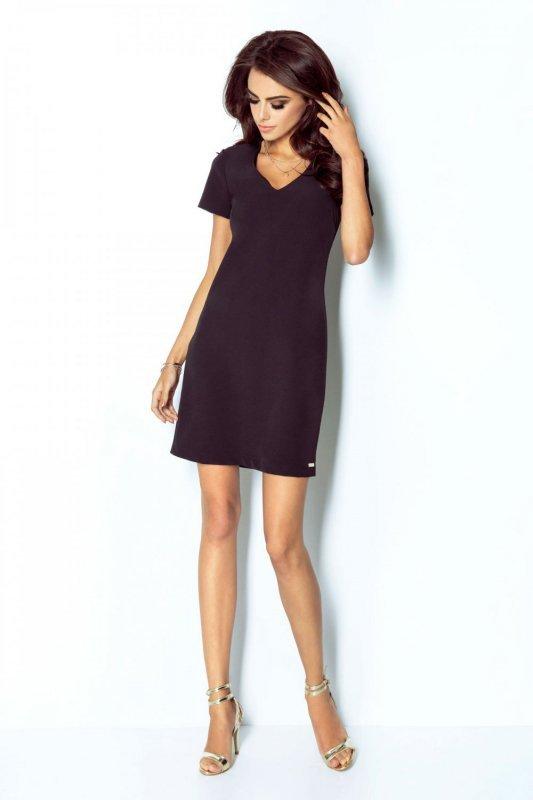 Elegancka sukienka Matilda - Czarna - Ivon