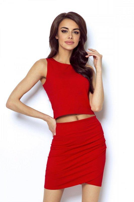 Spódnica zakładana z przodu Margot - Czerwona - Ivon