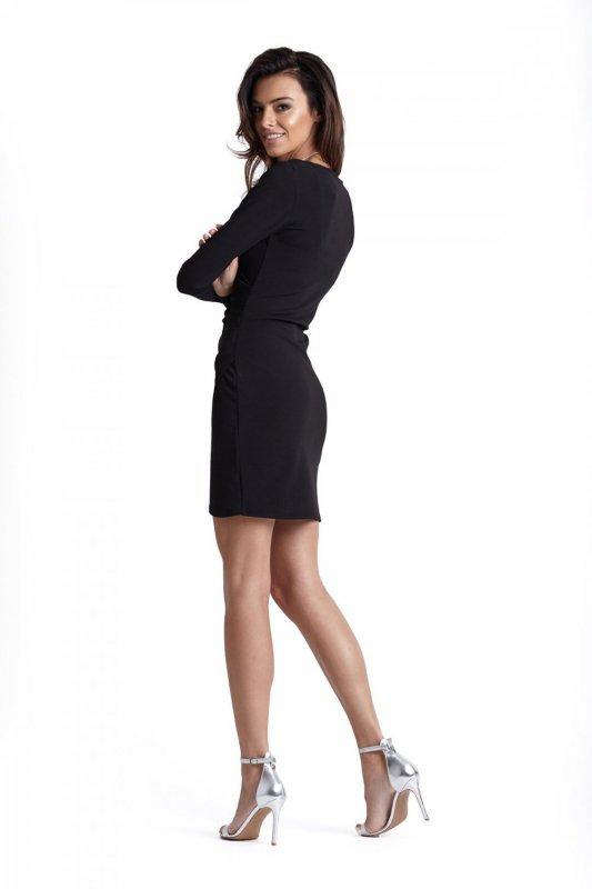 Drapowana sukienka  Marika - Czarna - Ivon