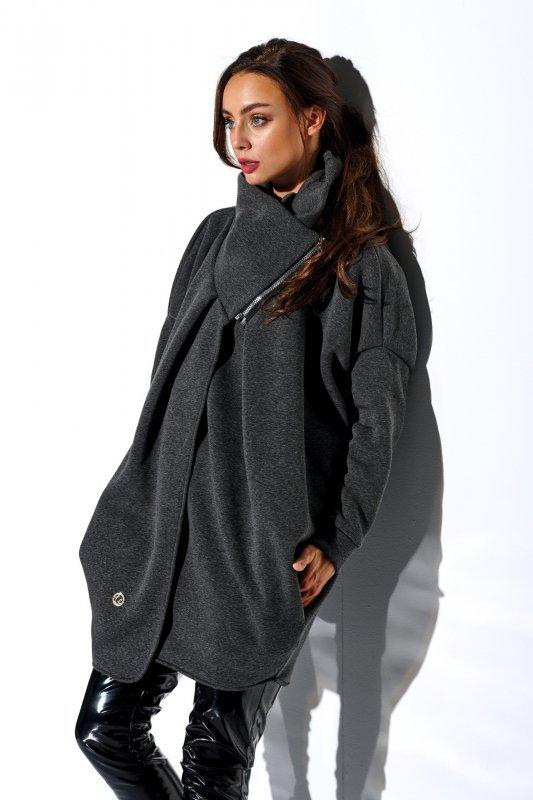 Bluza o oversizowym kroju z zamkiem - StreetStyle LN100