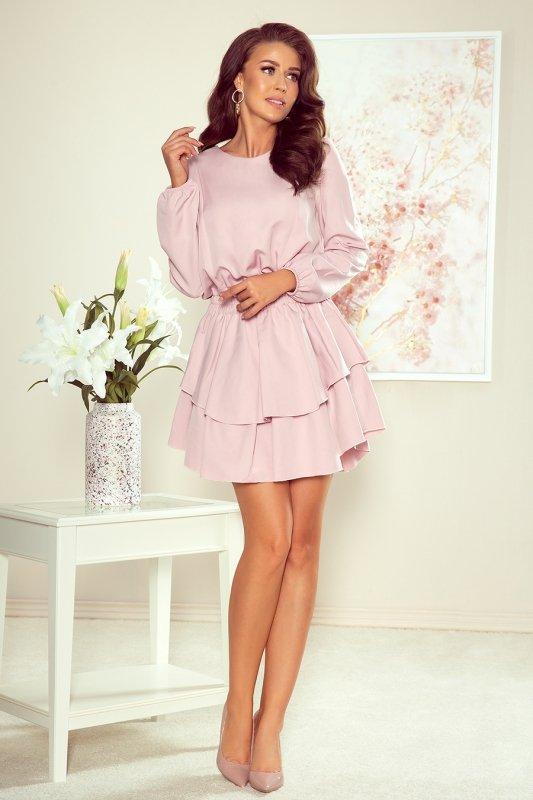 Sukienka z podwójną spódnicą Mattie - Brudny Róż