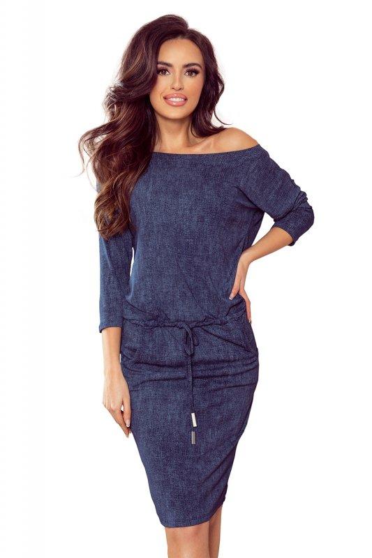 Sukienka sportowa z kieszonkami - jeans granatowy - 6