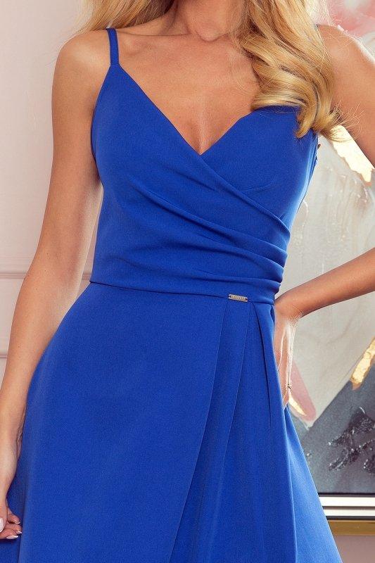 CHIARA elegancka maxi suknia na ramiączkach - CHABROWA - 5