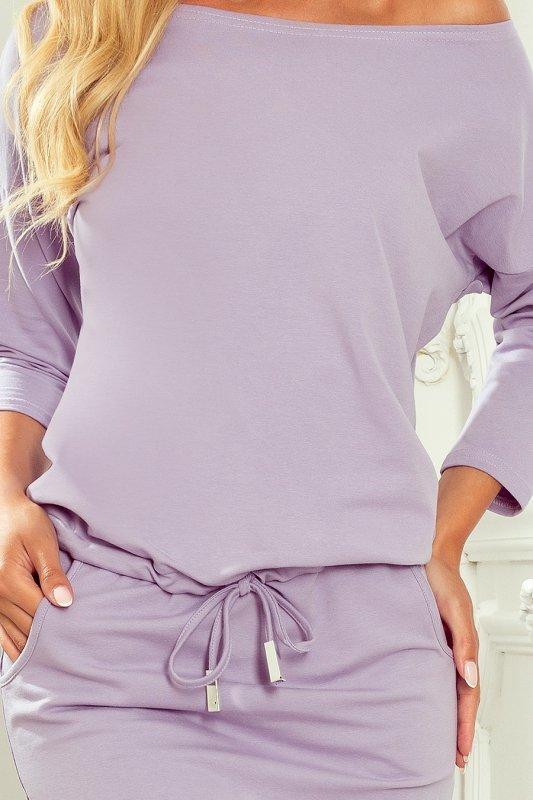 Sukienka sportowa z kieszonkami - BAWEŁNA - LILA - 5