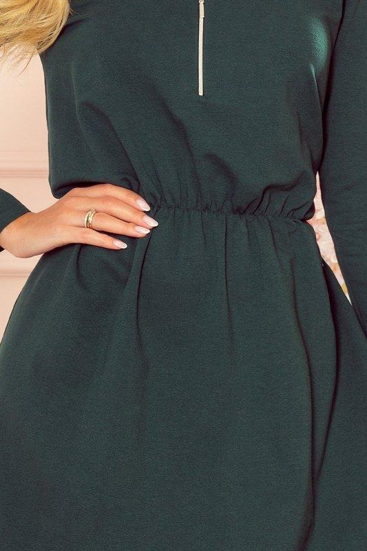 NANCY Sukienka z zamkiem - zieleń butelkowa -5