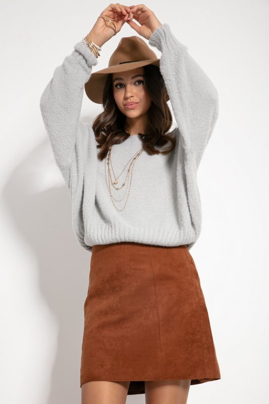 Sweter F1070- Szary -1