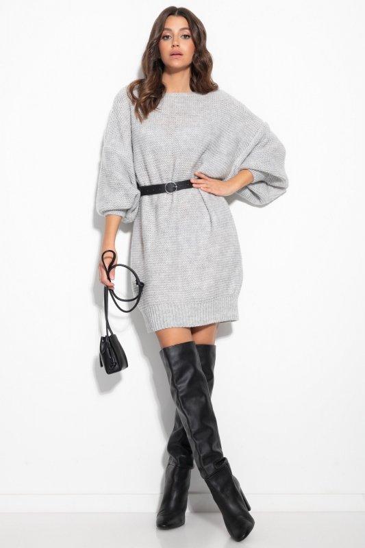 Dzianinowa sukienka-F1105-lilac-1