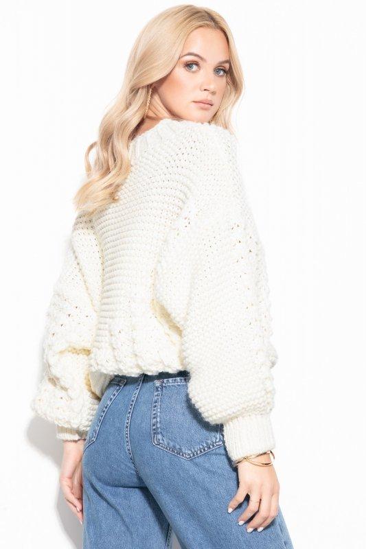 Sweter Chunky Knit F1125 - Ecru -4
